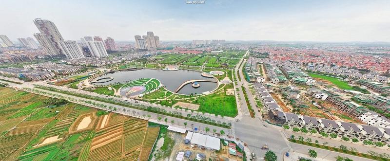 View công viên Thiên Văn Học từ dự án chung cư Anland LakeView Dương Nội