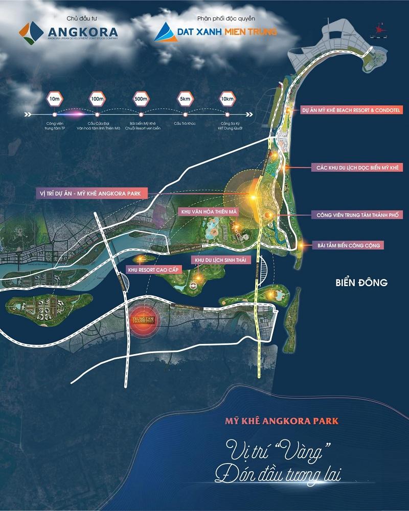 Vị trí dự án Mỹ Khê Angkora Park Quảng Ngãi