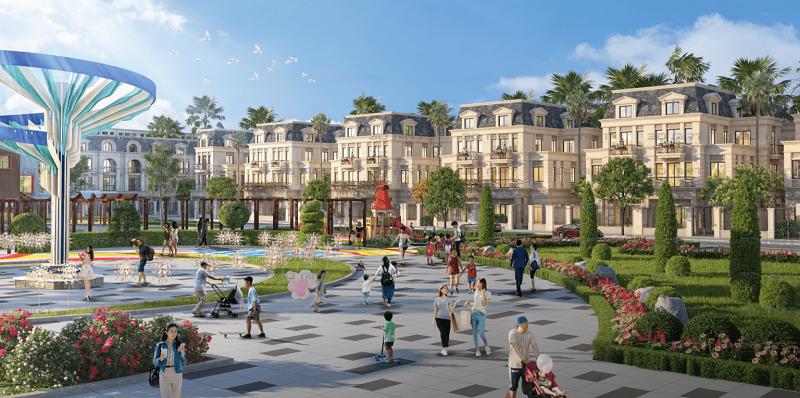 Công viên trung tâm dự án TNR Grand Palace Đông Mỹ - Thái Bình