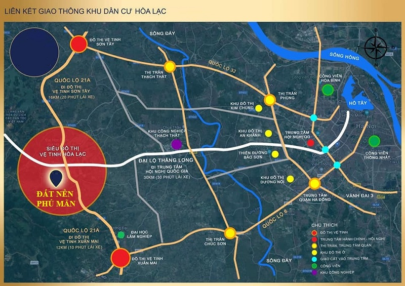 Kết nối giao thông khu đô thị Hòa Lạc và Hà Nội