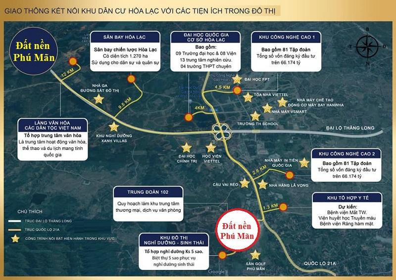 Kết nối khu dân cư Phú Mãn 32 lô trong khu đô thị vệ tinh Hòa Lạc