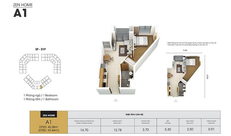 Mẫu thiết kế căn A1 chung cư Dragon Castle Hạ Long