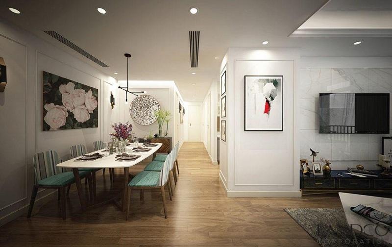 Nội thất phòng khách căn hộ dự án TNR The Nosta 90 Đường Láng
