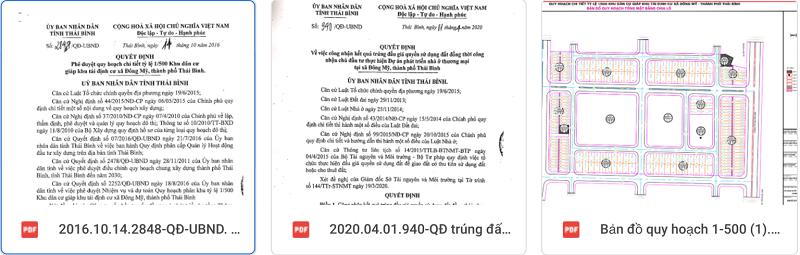 Pháp lý dự án TNR Grand Palace Đông Mỹ - Thái Bình