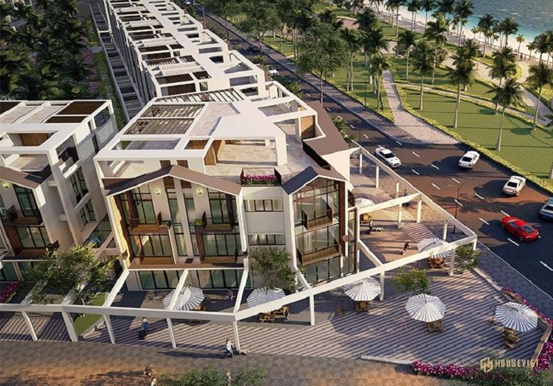 Phối cảnh 1 shop villas dự án The Seahara Tuy Hòa - Phú Yên