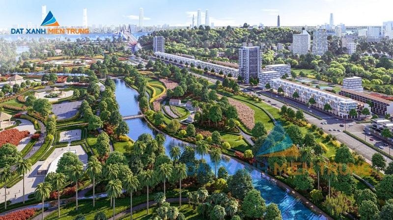 Phối cảnh 2 dự án Mỹ Khê Angkora Park Quảng Ngãi