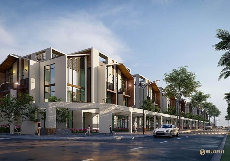 Phối cảnh 2 shop villas dự án The Seahara Tuy Hòa - Phú Yên
