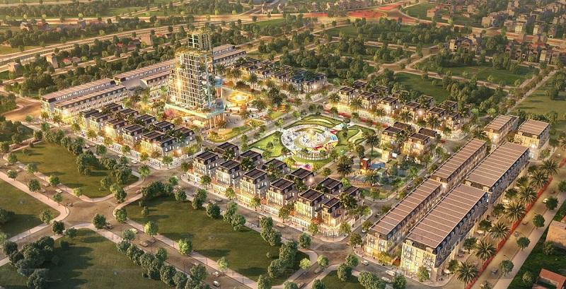Phối cảnh 2 dự án TNR Grand Palace Đông Mỹ - Thái Bình
