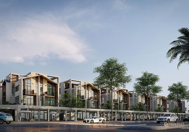 Phối cảnh 3 shop villas dự án The Seahara Tuy Hòa - Phú Yên