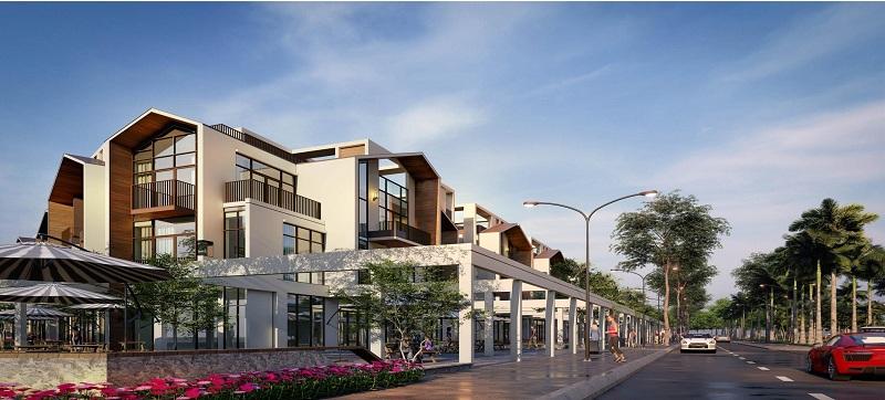 Phối cảnh 4 shop villas dự án The Seahara Tuy Hòa - Phú Yên