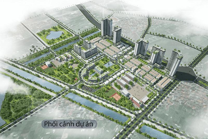 Phối cảnh dự án khu đô thị Kosy Complex Đông Anh