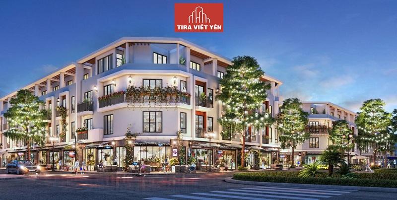 Phối cảnh shophouse dự án Tira Hồng Thái - Việt Yên - Bắc Giang