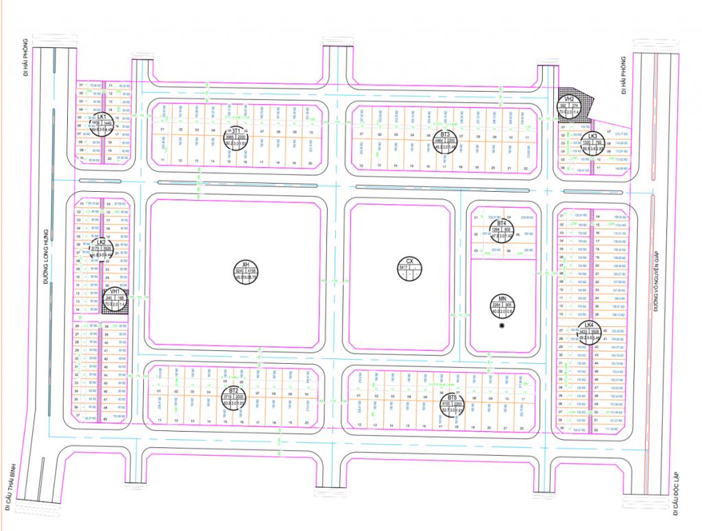 Quy hoạch dự án TNR Grand Palace Đông Mỹ - Thái Bình