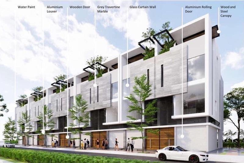 Thiết kế nhà phố Vịnh Đảo Sky Oasis Ecopark
