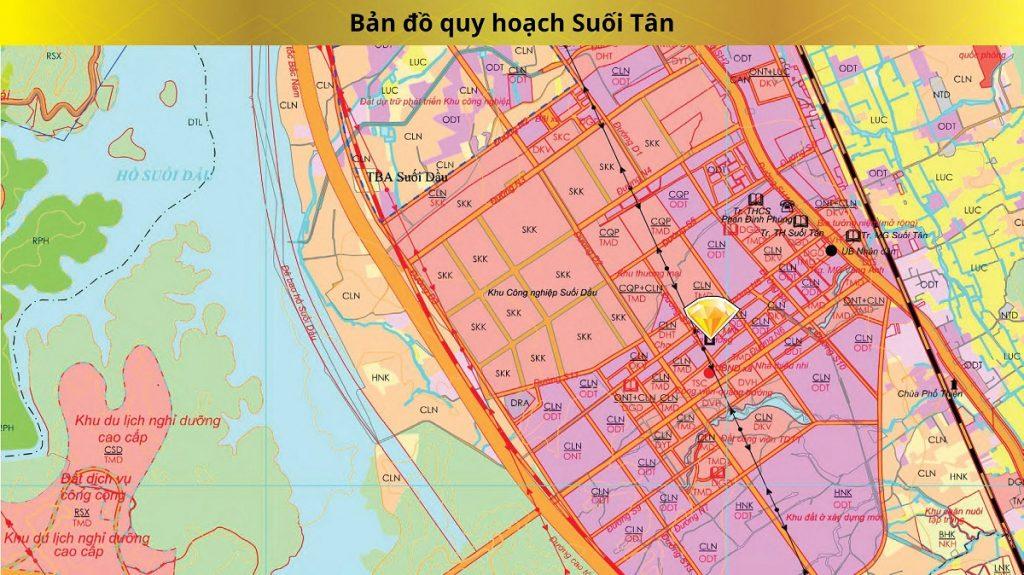 Bản đồ quy hoạch vùng Suối Tân Diamond Town Cam Lâm - Khánh Hòa