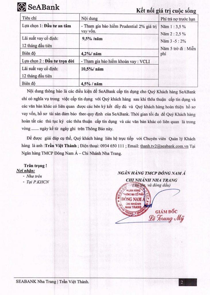 Chính sách hỗ trợ vay vốn 2 Suối Tân Diamond Town Cam Lâm - Khánh Hòa