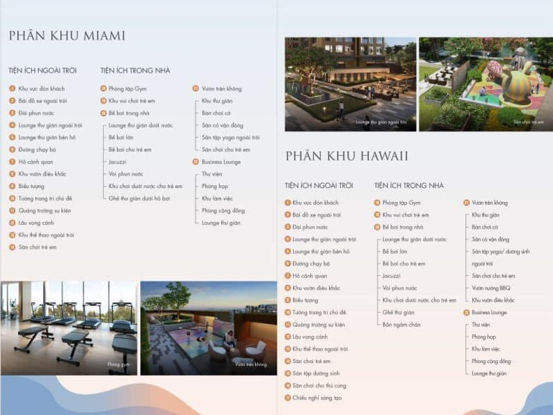 Danh sách tiện ích Masteri Waterfront Ocean Park Gia Lâm
