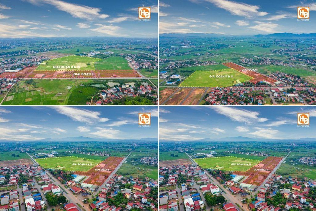 Flycam dự án Khu đô thị Dĩnh Trì - Bắc Giang