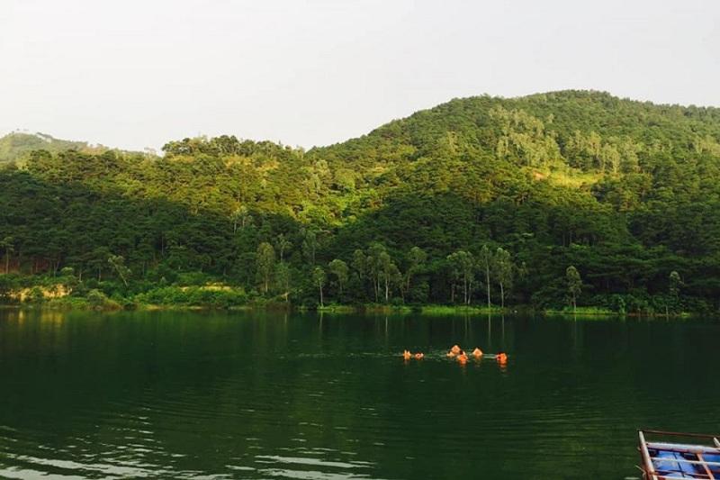 Hình ảnh thực tế Hồ Đồng Chanh 2 dự án nghỉ dưỡng La Saveur Lương Sơn - Hòa Bình