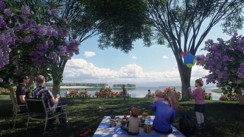 Không gian xanh dự án nghỉ dưỡng La Saveur Hồ Đồng Chanh - Lương Sơn - Hòa Bình