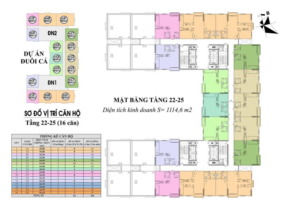 Mặt bằng tầng 22-25 Liberation Geleximco 897 Giải Phóng - Đuôi Cá Building