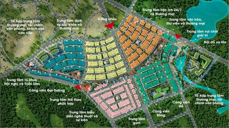 Mặt bằng tiện ích tổng thể dự án Meyhomes Capital Phú Quốc - Tân Á Đại Thành