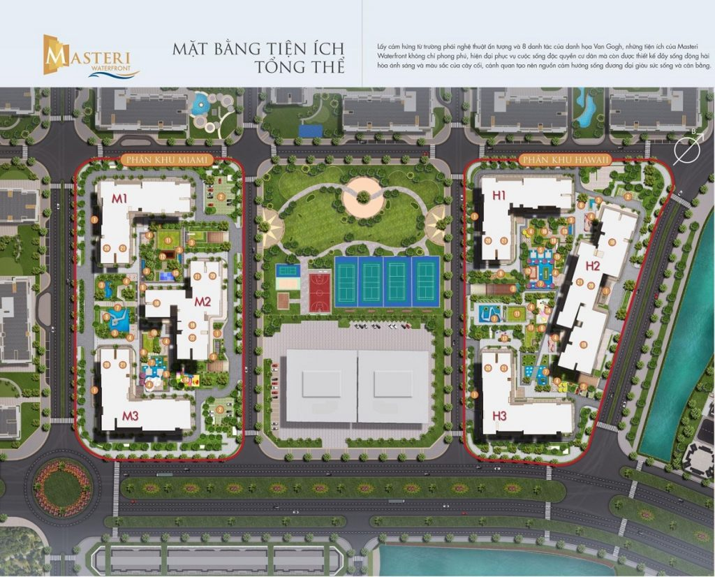 Mặt bằng tổng thể dự án Masteri WaterFront Ocean Park Gia Lâm