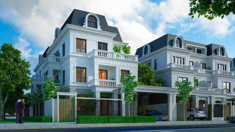 Mẫu nhà biệt thự dự án đất nền Đa Phúc Central Park - Dương Kinh - Hải Phòng