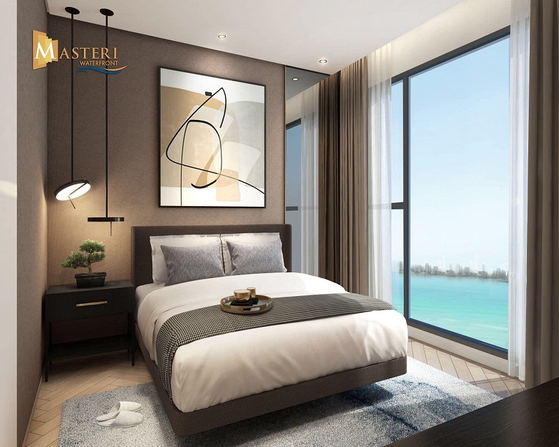 Nội thất phòng ngủ Masteri Waterfront Ocean Park Gia Lâm