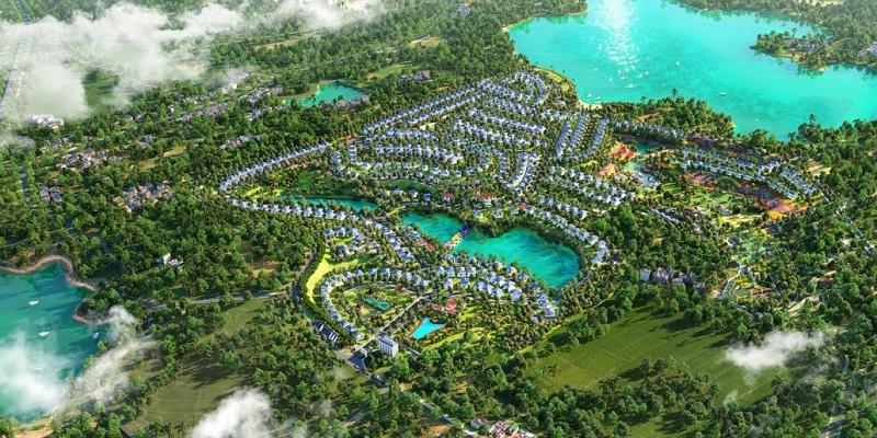Phối cảnh 2 dự án nghỉ dưỡng La Saveur Hồ Đồng Chanh - Lương Sơn - Hòa Bình