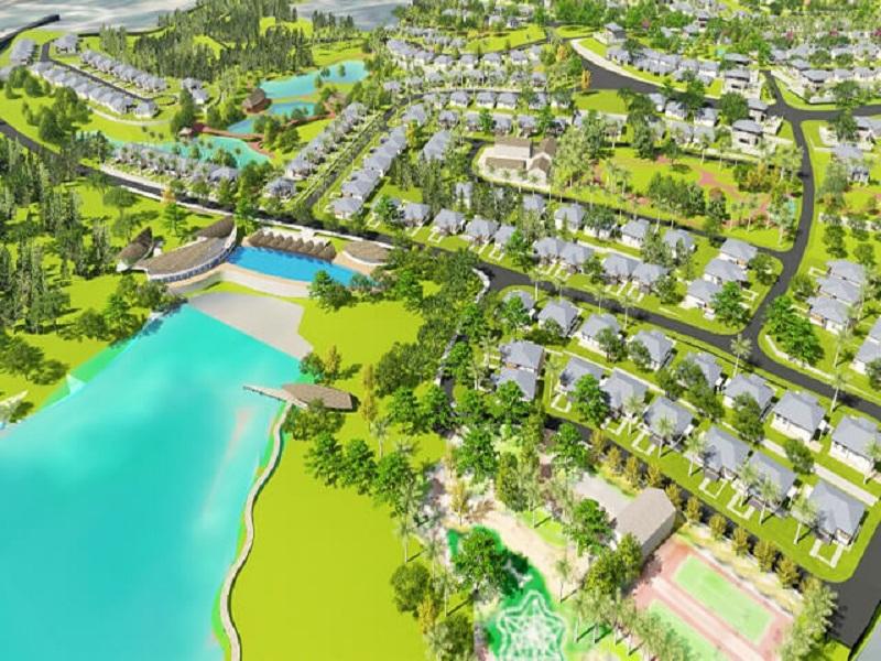 Phối cảnh 4 dự án nghỉ dưỡng La Saveur Hồ Đồng Chanh - Lương Sơn - Hòa Bình