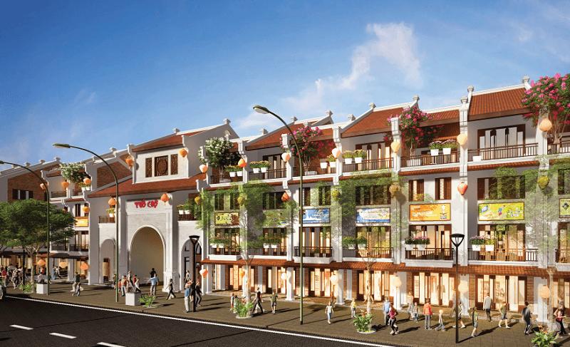 Phối cảnh mặt ngoài 2 Phố Chợ Kinh Bắc - Từ Sơn