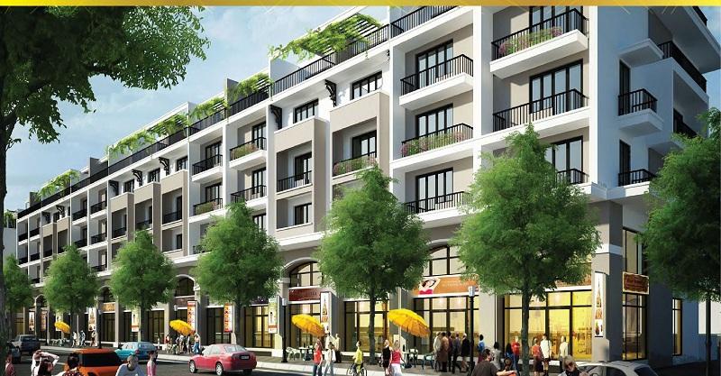 Phối cảnh nhà phố Suối Tân Diamond Town Cam Lâm - Khánh Hòa