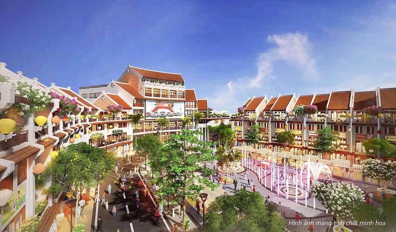 Phối cảnh nội khu Phố Chợ Kinh Bắc - Từ Sơn
