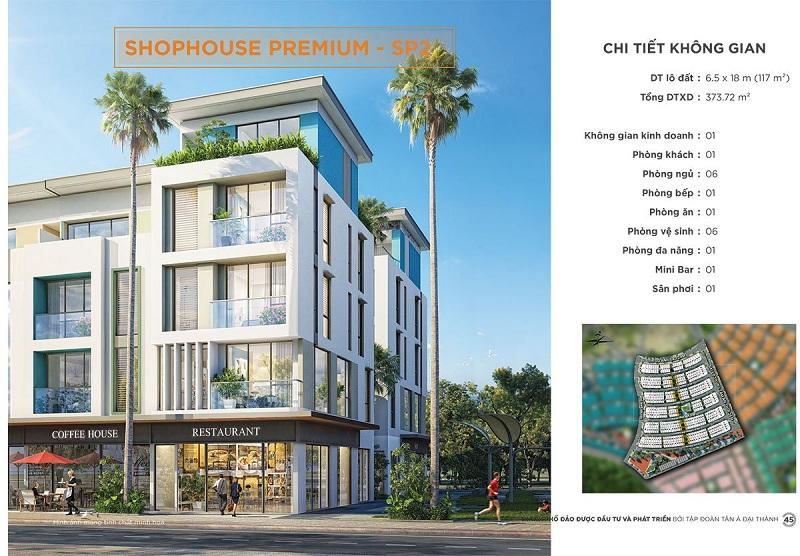 Phối cảnh Shophouse Premium SP2 dự án Meyhomes Capital Phú Quốc - Tân Á Đại Thành