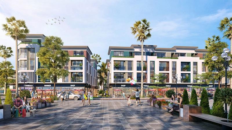 Phối cảnh Shophouse Rosada dự án Meyhomes Capital Phú Quốc - Tân Á Đại Thành