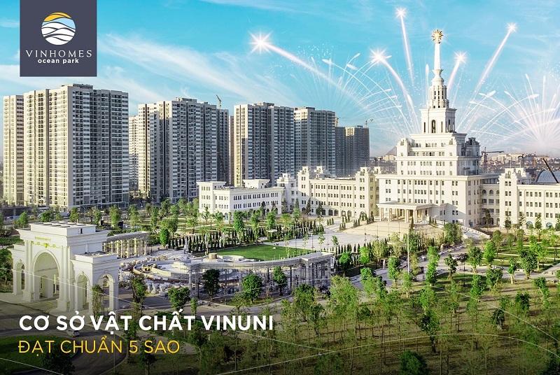 Vin Uni tiêu chuẩn quốc tế trong Vinhomes Ocean Park