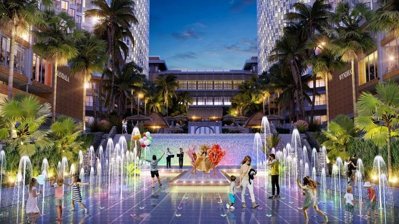 Quảng trường nước Apec Mandala Wyndham Mũi Né - Phan Thiết