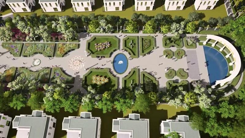 Quảng trường trung tâm dự án nghỉ dưỡng La Saveur Hồ Đồng Chanh - Lương Sơn - Hòa Bình