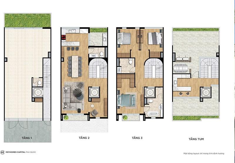 Shophouse Premium SP1-1 dự án Meyhomes Capital Phú Quốc - Tân Á Đại Thành