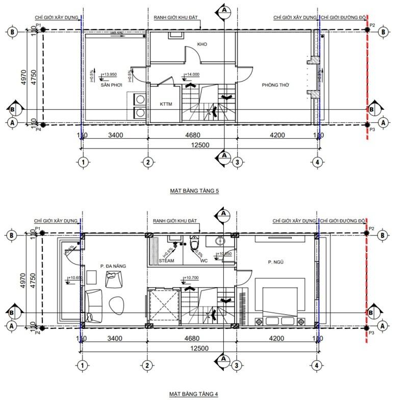 Thiết kế 1 nhà phố TNR Grand Palace Hợp Giang - trung tâm TP Cao Bằng