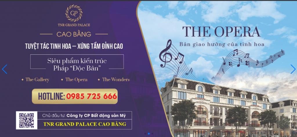 Tiểu khu The Opera TNR Grand Palace Hợp Giang - trung tâm TP Cao Bằng
