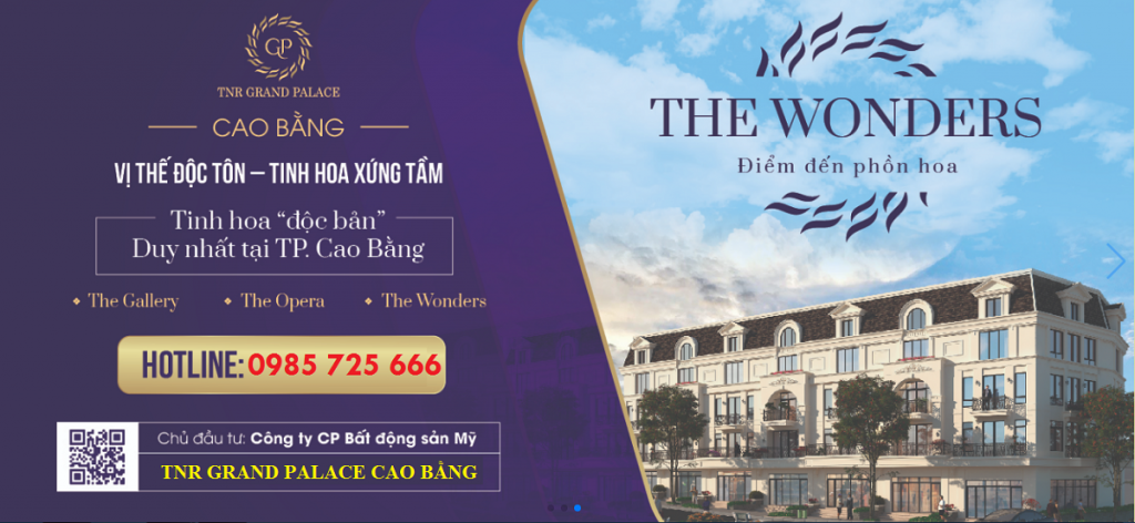 Tiểu khu The Wonders TNR Grand Palace Hợp Giang - trung tâm TP Cao Bằng