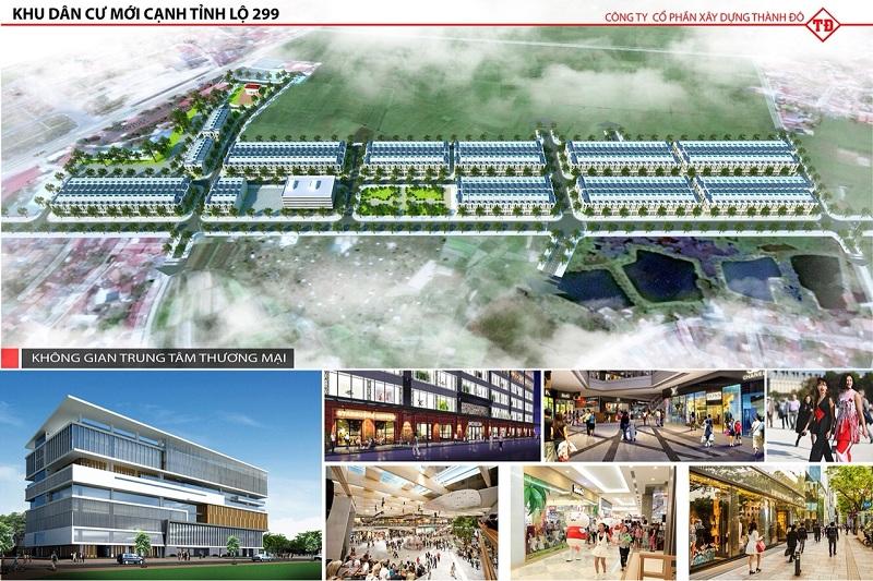 Trung tâm thương mại dự án Khu đô thị Dĩnh Trì - Bắc Giang