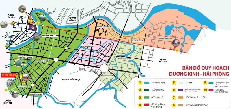 Vị trí đất nền Đa Phúc Central Park - Dương Kinh - Hải Phòng