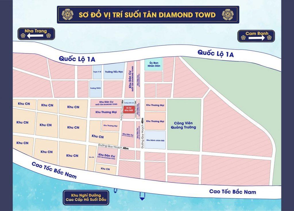 Vị trí Suối Tân Diamond Town Cam Lâm - Khánh Hòa