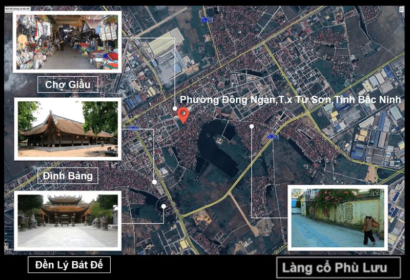 Vị trí Phố Chợ Kinh Bắc - Từ Sơn