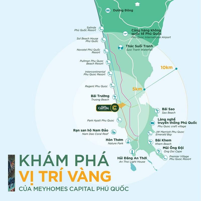 Vị trí Vàng dự án Meyhomes Capital Phú Quốc - Tân Á Đại Thành