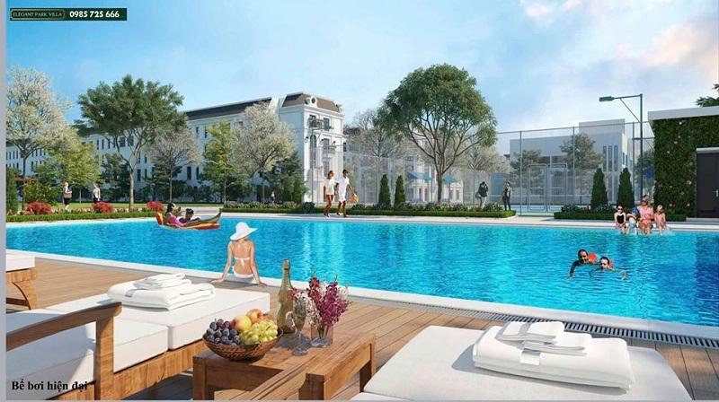 Bể bơi Elegant Park Villa Thạch Bàn - MIK Group