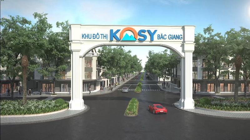 Cổng dự án Kosy Eden Xương Giang - Bắc Giang